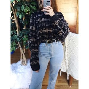 🌿 Vintage Chenille Plaid Cozy Boyfriend Knit 🌿